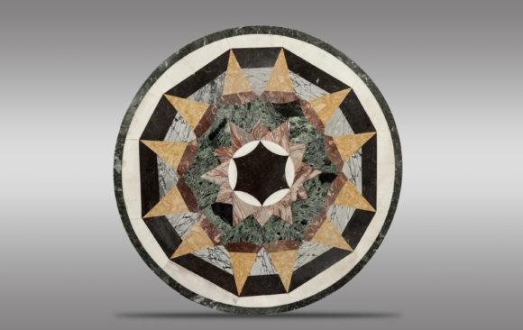 Tablero en marquetería de mármol<br/> Siglo XIX
