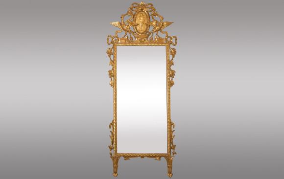 Espejo en madera dorada<br/>Toscana, Italia <br/>Siglo XVIII