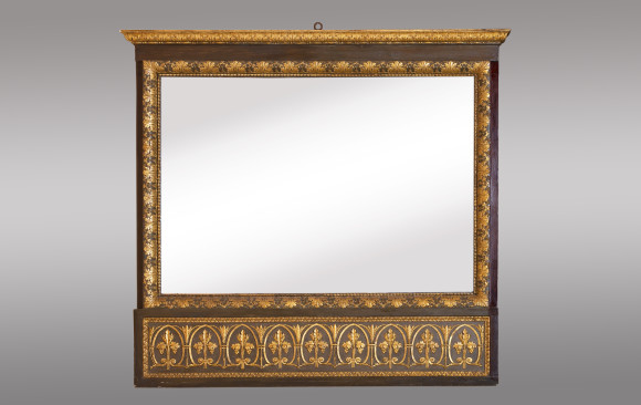 Tuscan Neoclassical Carved Mirror<br/> Early 19th. Century