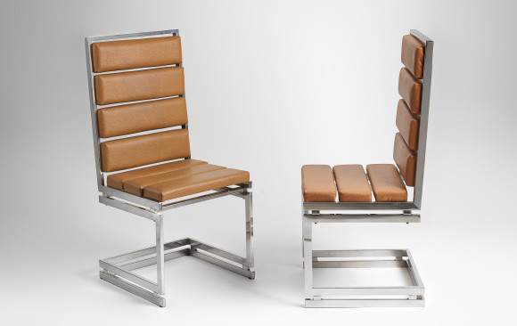 Six Italian Dining Chairs<br/> by Romeo Rega <br/> 1970´s