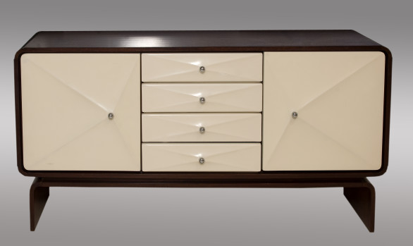 Swedish Sideboard <br/> in melamine and amaranth