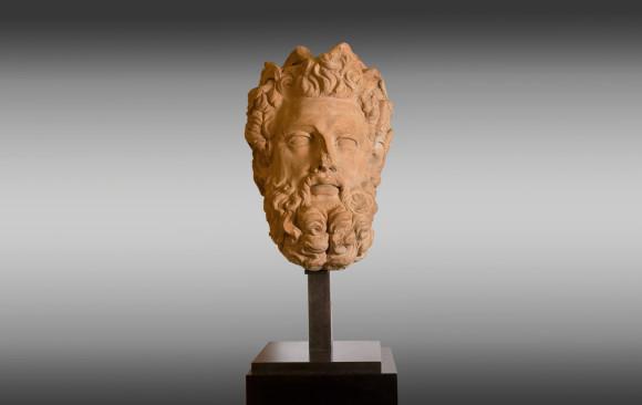 Cabeza del dios Zeus en Terracota <br/> Siglo XVIII