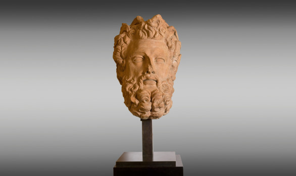 Great head of god Zeus <br/>in Terracotta Eighteenth Century