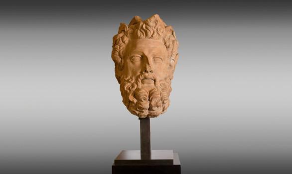 Great head of god Zeus <br/>in Terracotta Eighteenth Century