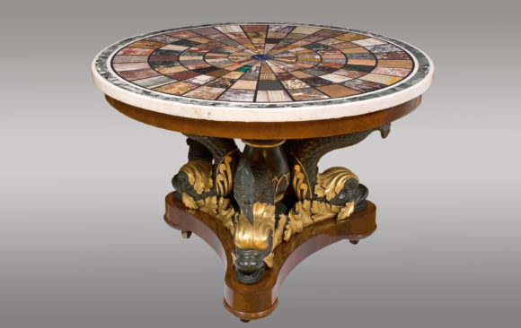 A Magnificent Centertable<br/> Signed by Fratelli Blasi<br/>at Rome in 1827