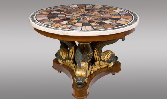 A Magnificent Centertable<br/> Top signed by Fratelli Blasi<br/>at Rome in 1827