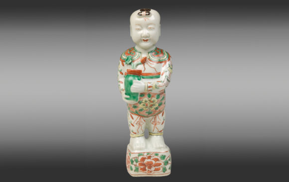 ''Ho Ho boy'' Chinese Porcelaine<br/> Period Kang-Hsi<br/>Second Half Seventeenth Century