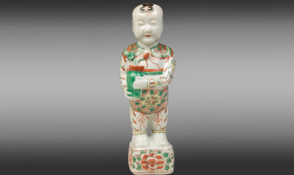 Porcelana China ''Niño Ho Ho''<br/> Periodo Kang-Hsi<br/> 2ª Mitad del Siglo XVII