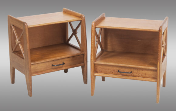 Two Oak Nigth Stands <br/> or Side Tables