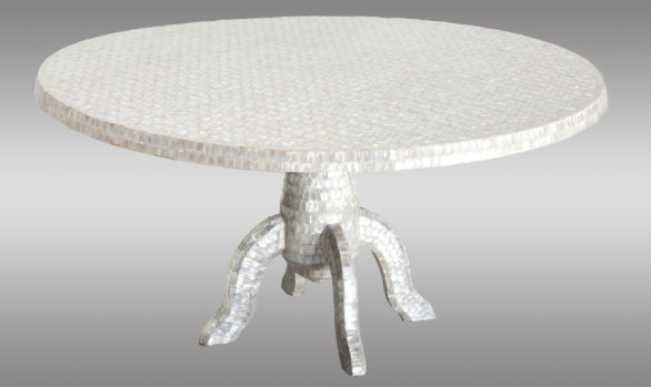 Two low Tables <br/> of mother pearl mosaic