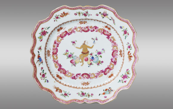 Chinese Export Porcelain Dish <br/> of ''Compagnie des Indes''<br/> Eighteen Century