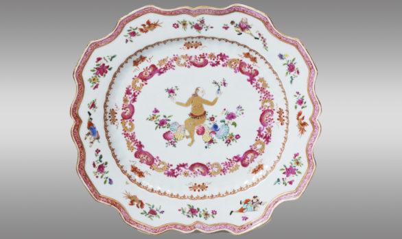 Fuente en Porcelana China<br/>  de la Compañía de Indias<br/> Siglo XVIII
