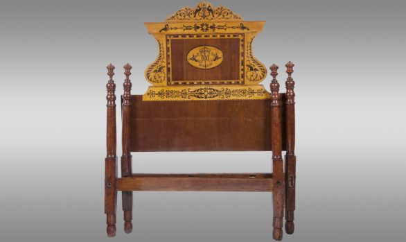 Four poster Bed in Mahogany<br/> from Majorque (Spain)<br/> About 1850