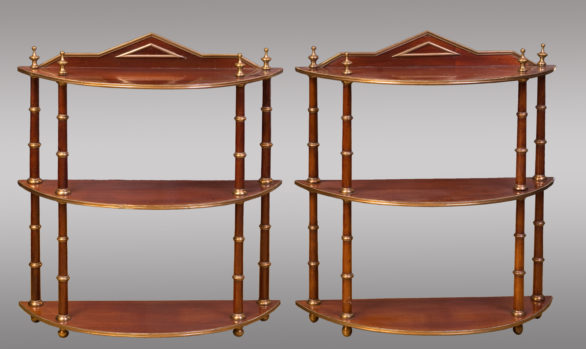 Nice Pair of Hanging Shelves<br/> Baltics<br/> Mid Nineteenth Century