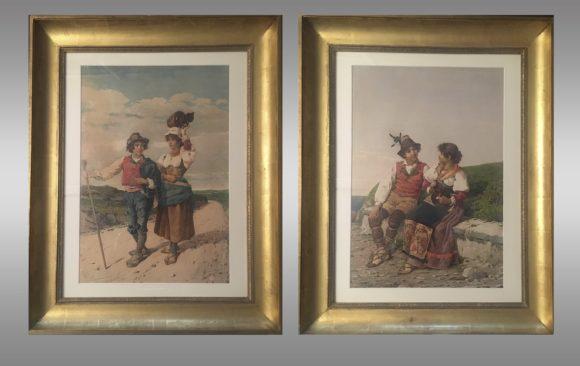 Acuarelas de Vicenzo Caprile <br/>(Nápoles 1856 - 1936)