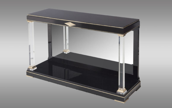 Black polished Console-Table<br/> 70´s