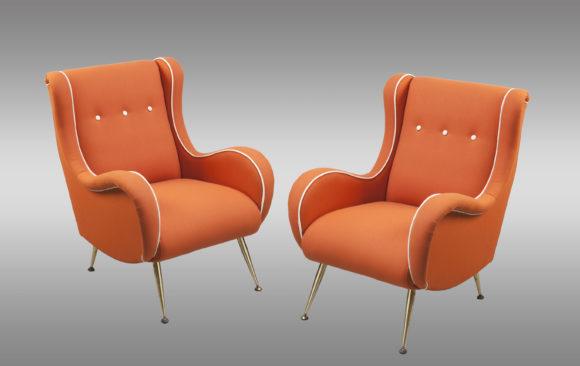 Fine Italian Armchairs<br/>by Aldo Morbelli 1950
