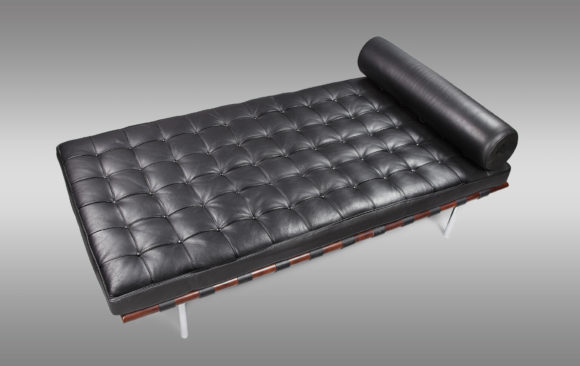 ''Daybed Barcelona''<br/>  Replica of design by <br/> Mies Van Der Rohe in 1929