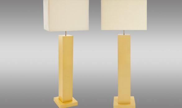 Lacquered Wood Floor <br/> Lamps 1970s