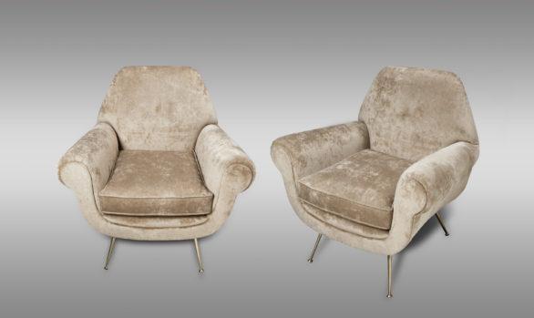 Butacas Italianas Años 60`s <br/> Diseño de Gigi Radice.