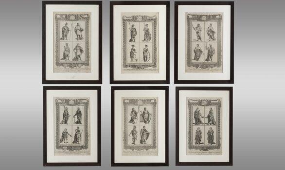 Seis Grabados del Siglo XVlll por Grignion