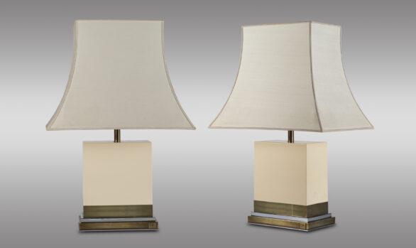 Lámparas de mesa francesas<br/> Jean Claude Mahey