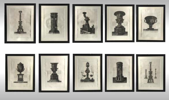 Serie de diez Grabados<br/>Giovanni Baptista Piranesi <br/> Firmados Cav. Piranesi fecit <br/> 1800-1806