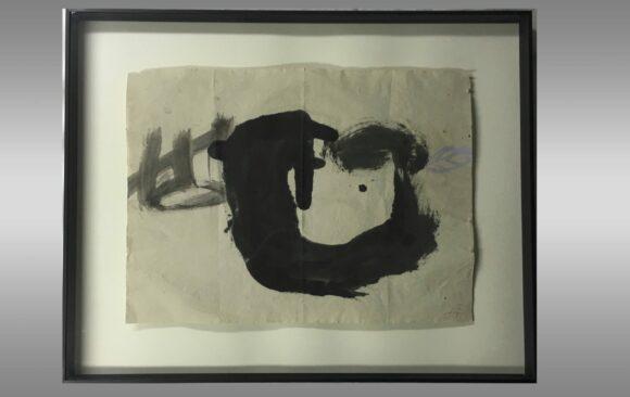 "Antoni Tapies <br/> ""Cavitat"" <br/> 1982"