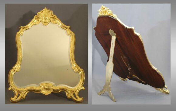Espejo de tocador  <br/> Firmado Boin Taburet (Paris) <br/> Final del Siglo XIX